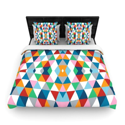 Geometric Woven Comforter Duvet Cover Size: Twin