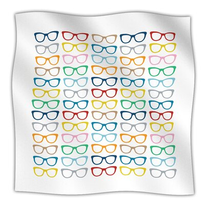 Throw Blanket Color: Rainbow Specs, Size: 80 L x 60 W