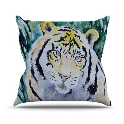 Tiger Throw Pillow Size: 18 H x 18 W
