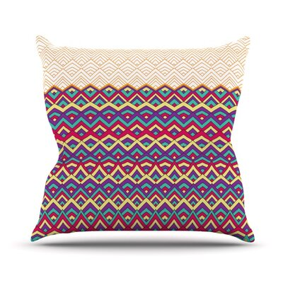 Throw Pillow Size: 16 H x 16 W, Color: Orange