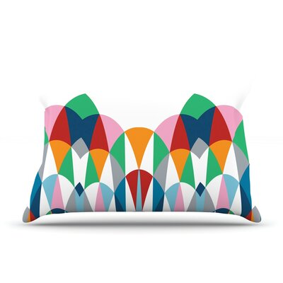 Modern Day Arches Pillow Case Size: Standard