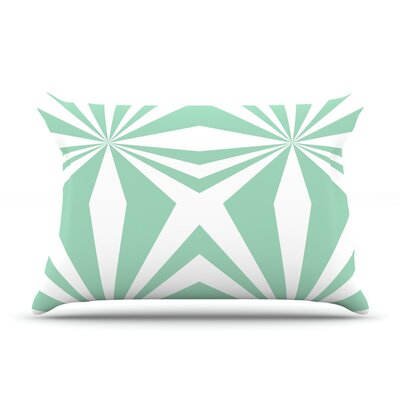 Starburst Mint by Project M Featherweight Pillow Sham Size: Queen, Fabric: Woven Polyester