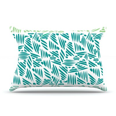 Bamboo Pom Graphic Design Featherweight Pillow Sham Size: King, Fabric: Woven Polyester