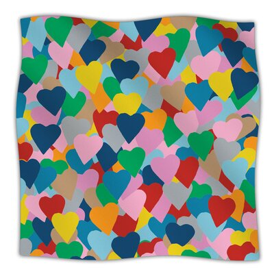 More Hearts Throw Blanket Size: 60 L x 50 W
