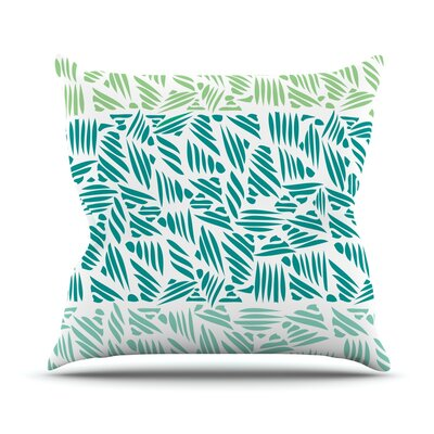 Bamboo Pom Graphic Throw Pillow Size: 16 H x 16 W x 3 D