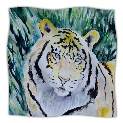Tiger Throw Blanket Size: 80 L x 60 W