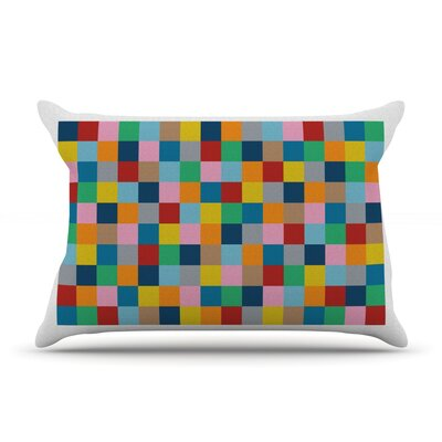 Colour Blocks Zoom Pillow Case Size: Standard
