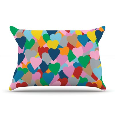 More Hearts Pillow Case Size: King