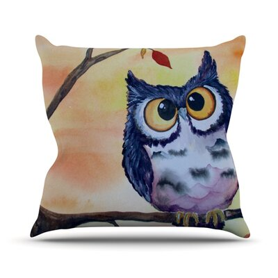 Hootie Cutie Throw Pillow Size: 18 H x 18 W