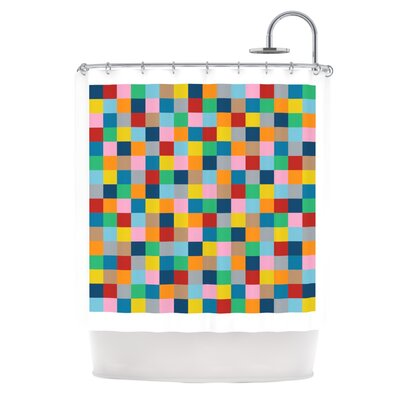 Colour Blocks Zoom Shower Curtain