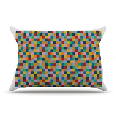 Colour Blocks Pillow Case Size: Standard