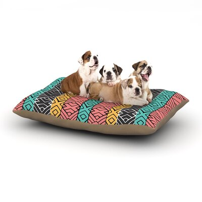 Pom Graphic Design Artisian Dog Pillow with Fleece Cozy Top Size: Small (40 W x 30 D x 8 H)