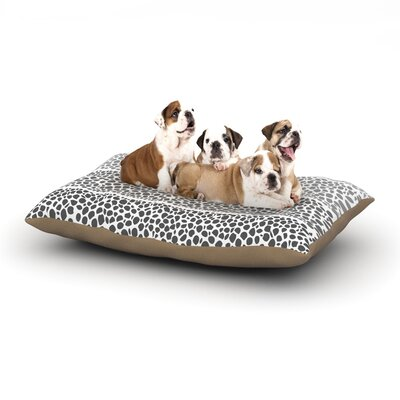 Pom Graphic Design Riverside Pebbles Dog Pillow with Fleece Cozy Top Size: Large (50 W x 40 D x 8 H)