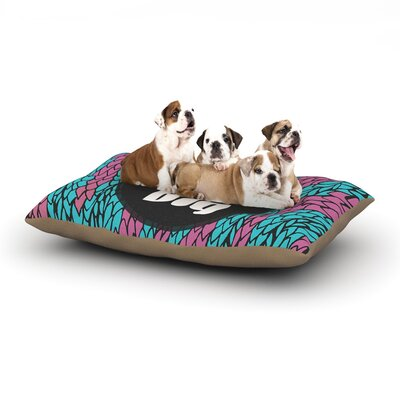 Pom Graphic Design Dream Big Dog Pillow with Fleece Cozy Top Size: Small (40 W x 30 D x 8 H)