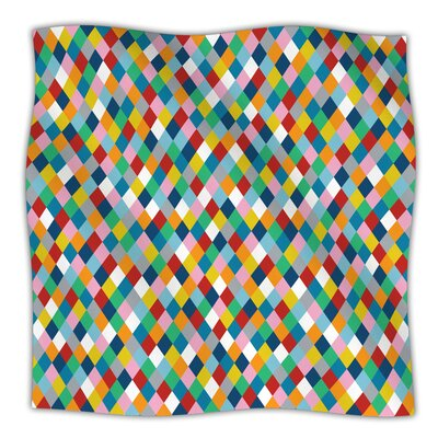 Harlequin Throw Blanket Size: 40 L x 30 W