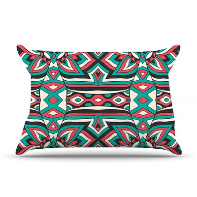 Pom Graphic Design Ethnic Floral Mosaic Pillow Case