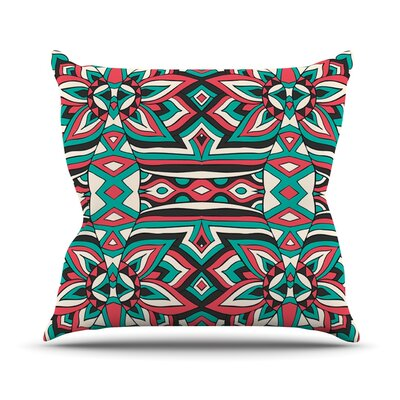 Ethnic Floral Mosaic by Pom Graphic Throw Pillow Size: 20 H x 20 W x 4 D