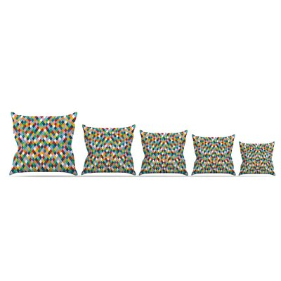 Harlequin Throw Pillow Size: 16 H x 16 W