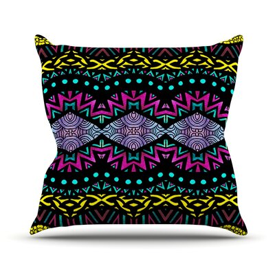 Tribal Dominance Throw Pillow Size: 20 H x 20 W