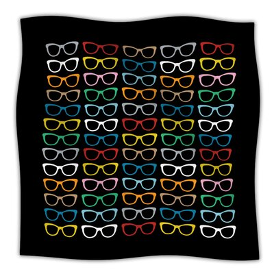 Throw Blanket Size: 80 L x 60 W, Color: Sunglasses At Night