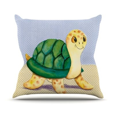 Slow And Steady Throw Pillow Size: 18