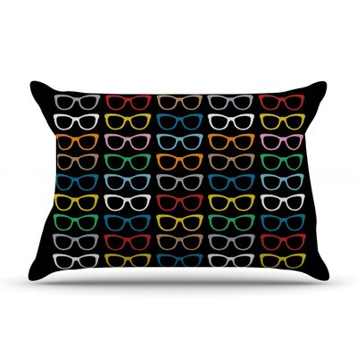 Sun Glasses at Night by Project M Featherweight Pillow Sham Size: Queen, Fabric: Woven Polyester