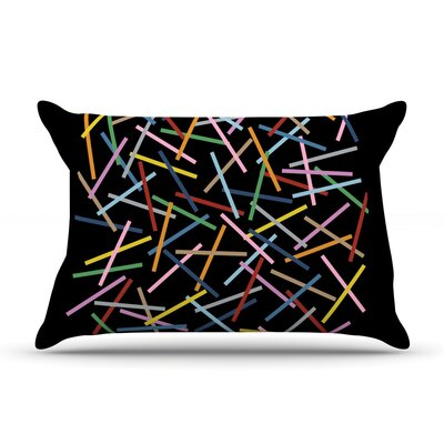 Project M Sprinkles On Black Pillow Case