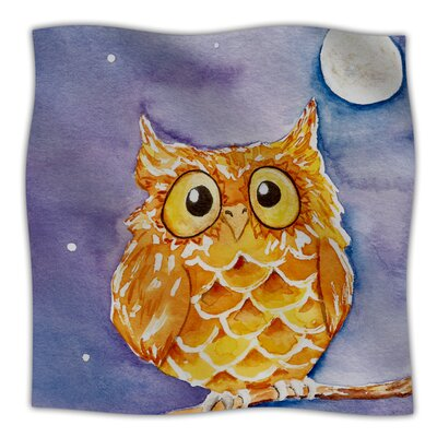 Little Hoot Throw Blanket Size: 80 L x 60 W
