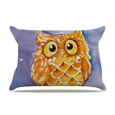 Little Hoot by Padgett Mason Featherweight Pillow Sham Size: Queen, Fabric: Woven Polyester