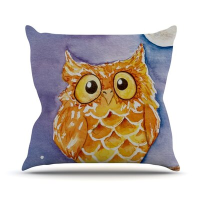 Little Hoot Throw Pillow Size: 18 H x 18 W