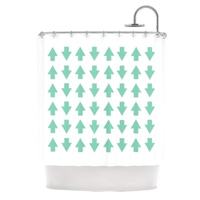 Arrows Up And Down Shower Curtain Color: Mint