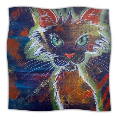 Rave Kitty Throw Blanket Size: 40 L x 30 W