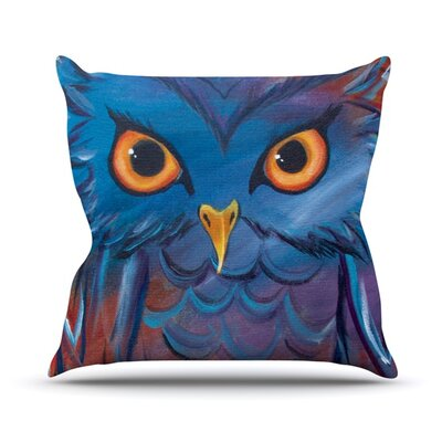 Hoot Throw Pillow Size: 18 H x 18 W