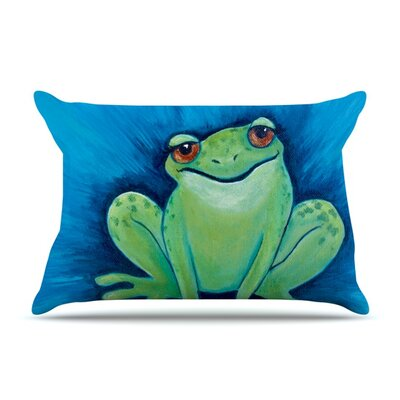 Ribbit Ribbit Pillow Case Size: Standard