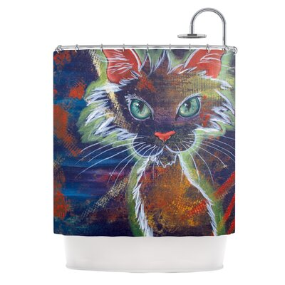 Rave Kitty Shower Curtain