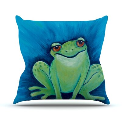 Ribbit Ribbit Throw Pillow Size: 26 H x 26 W