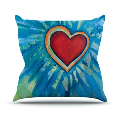 Love Shines On Throw Pillow Size: 18 H x 18 W