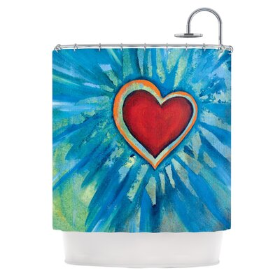 Love Shines On Shower Curtain