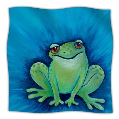 Ribbit Ribbit Throw Blanket Size: 40 L x 30 W