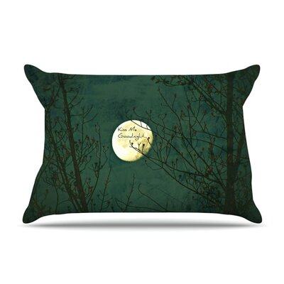 Kiss Me Goodnight by Robin Dickinson Featherweight Pillow Sham Size: King, Fabric: Woven Polyester