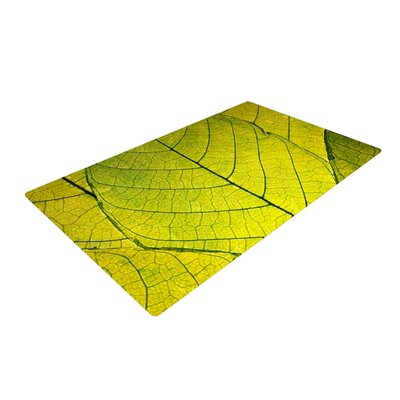 Every Leaf a Flower Green Area Rug Rug Size: 4 x 6