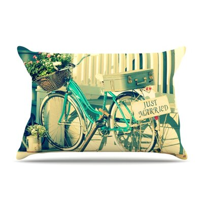 Just Married by Robin Dickinson Featherweight Pillow Sham Size: Queen, Fabric: Woven Polyester