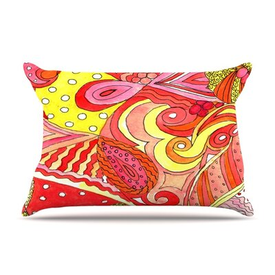 Swirls by Rosie Brown Featherweight Pillow Sham Size: King, Fabric: Woven Polyester