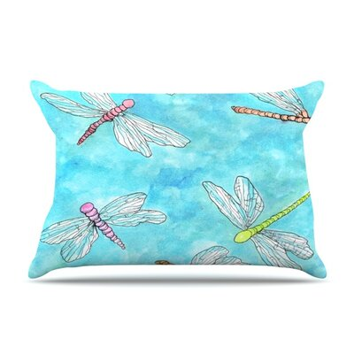 Dragonfly by Rosie Brown Featherweight Pillow Sham Size: Queen, Fabric: Woven Polyester