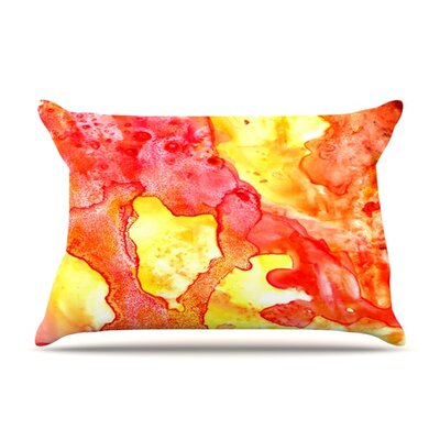 Hot Hot Hot by Rosie Brown Featherweight Pillow Sham Size: King, Fabric: Woven Polyester