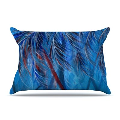 Red White Tropical by Rosie Brown Featherweight Pillow Sham Size: King, Fabric: Woven Polyester