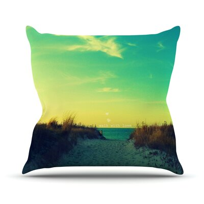 Walk With Love Throw Pillow Size: 18 H x 18 W