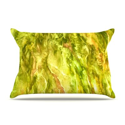 Tropical Delight by Rosie Brown Featherweight Pillow Sham Size: Queen, Fabric: Woven Polyester