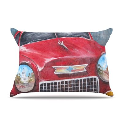 Vintage in Cuba by Rosie Brown Featherweight Pillow Sham Size: Queen, Fabric: Woven Polyester