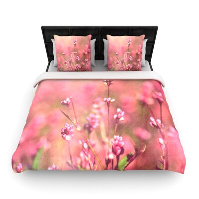 Its a Sweet Sweet Life Flowers Woven Comforter Duvet Cover Size: King